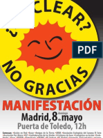 8 Mayo Antinuclear Madrid
