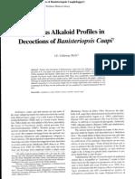Various Alkaloid Profiles in Aya Decoction