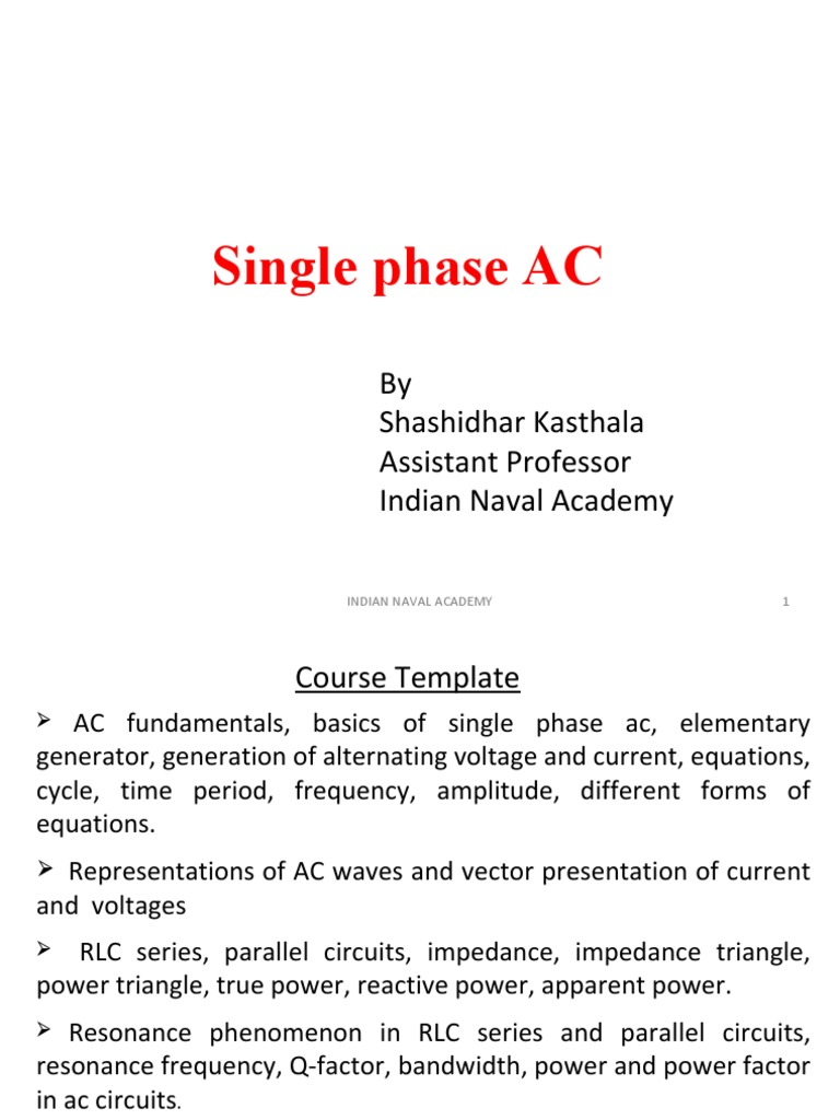 Single Phase Ac Power Electrical Impedance Series Parallel Circuit Formula And