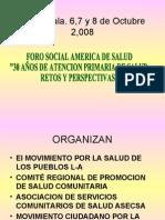 FORO SOCIAL AMERICA DE SALUD