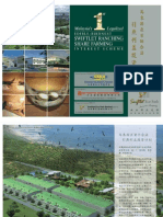 Brochure of Malaysia's First Legalized Edible-Birdnest Swiftlet Ranching Interest Scheme = 9 Sep 2010