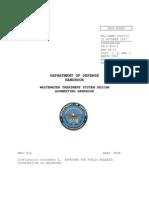 Waste Water Treatment System Design - Dod 1997 Handbook