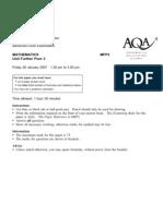 AQA-MFP3-W-QP-JAN07
