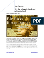 Bir Ras Kirtan Durbar Prakash of Sri Guru Granth Sahib and Sri Dasam Granth Sahib