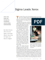 Lean Six Sigma Leads Xerox