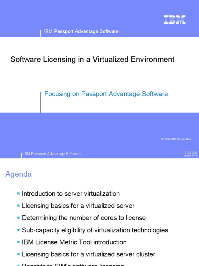 Sub Capacity Licensing Overview Apr09 External | Virtual
