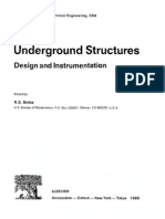 Underground Structures Design and Instrumentation
