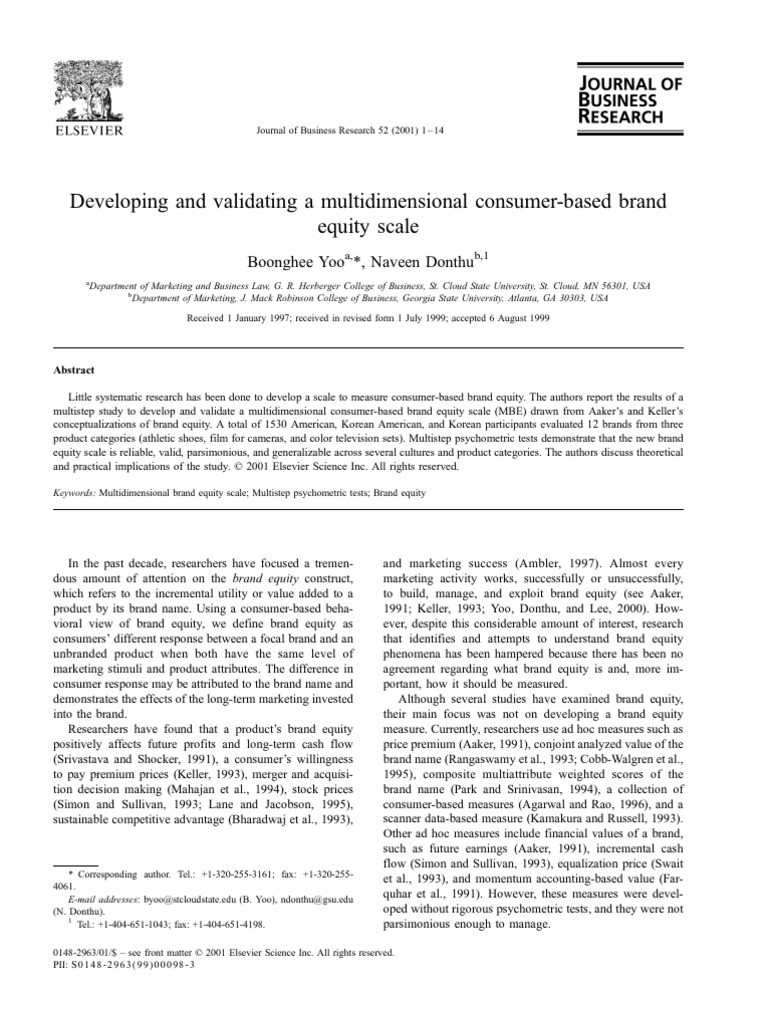 Developing and validating a multidimensional consumer based brand equity scale online dating incidents
