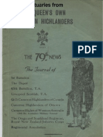 Obituaries From the Queens Own Cameron Highlanders