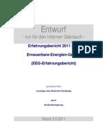 Erfahrungsbericht 2011 zum Erneuerbare-Energien-Gesetz EEG