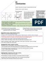 Biological Molecules- Sugars