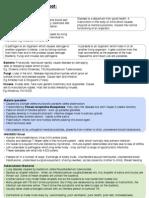 Disease Summary Sheet
