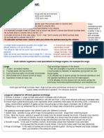 Exchange Surfaces Summary Sheet