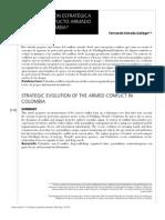 Evolución estratégica del conflicto armado