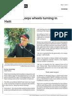 Reiser Relief keeps wheels turning in Haiti  - ABCnewspapers