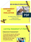 Assessment and Evaluation