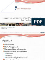 Administrating EPM Best Practices PROJILITY