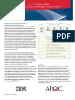 Automotive Industry - Process Classification Framework