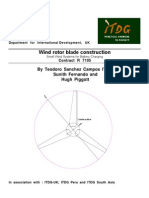Wind rotor blade construction