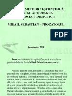 Mihail Sebastian - Prozatorul