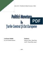 Politica monetară în ţările central şi est europene