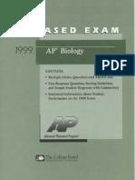 Biology Released Exam 1999