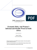 Economic Policy And Women's Informal and Flexible Work In South Africa