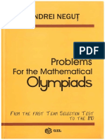 Problems for the Mathematical Olympiads Andrei Negut