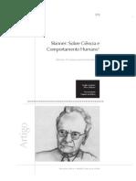 Sampaio, A.A.S. Skinner Sobre ciência e comportamento humano