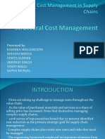 Strategic Cost Management in Supply Chains