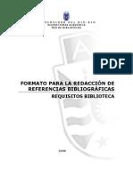 Formato Para La Redaccion de Refernecias Bibliograficas