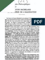 Dufrenne, Bachelard et la poésie de l'imagination