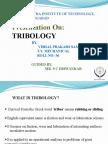 Ppt on Tribology