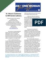 Dr. Morse's Testimony to MN Senate Judiciary