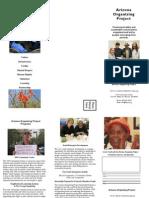 Arizona Organizing Project Pamphlet FINAL May 2011