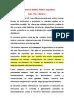 Documento de análisis político coyuntural. Caso Peréz Becerra