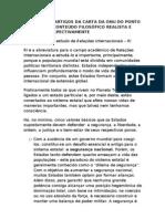 ANÁLISE DOS ARTIGOS DA CARTA DA ONU SOB O PRISMA REALISTA E IDEALISTA