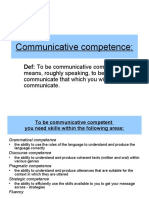 Communicativ Competence