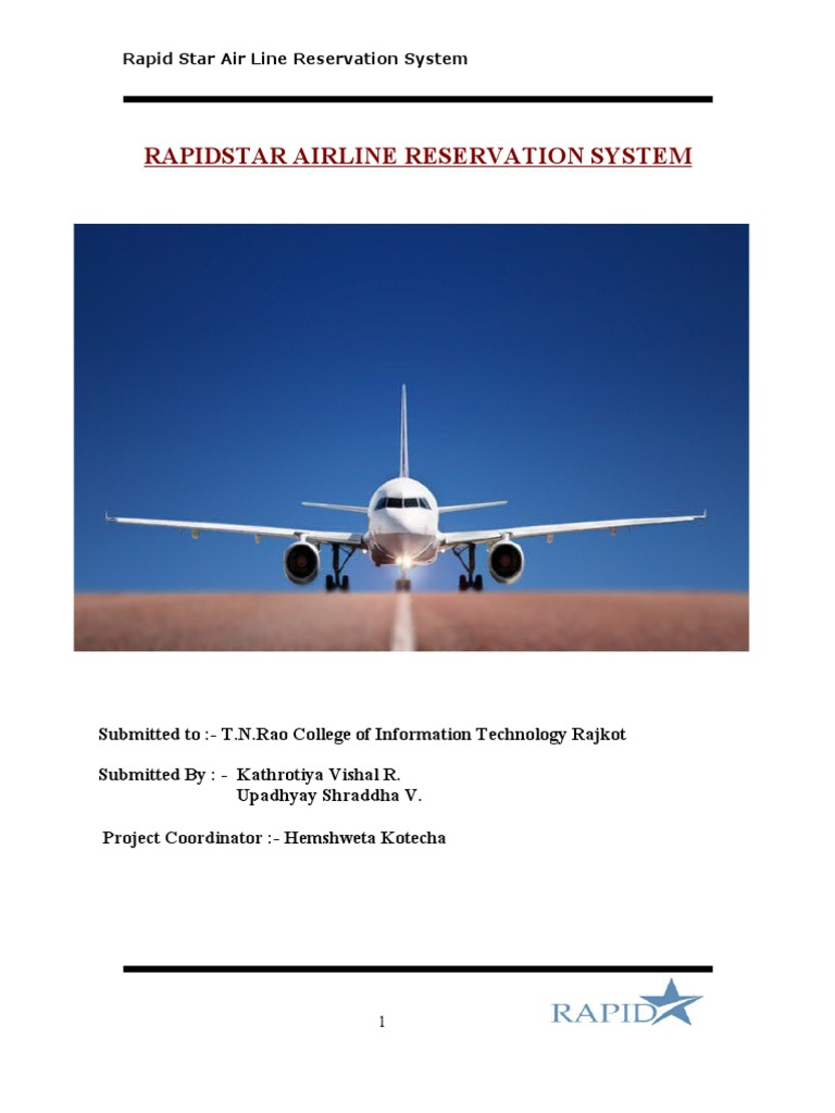 feasibility study for airline reservation