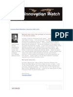 Innovation Watch Newsletter 10.10 - May 7, 2011