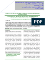 A Review on Captopril Oral Sustained Controlled Release Formulations