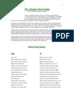 The Alkaline Diet Guide