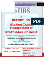 Report on Working Capital Management of Sbi p Sharma (2)