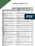 Presentation Evaluation Proforma