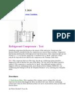 Compressor Check
