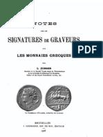 Notes sur les signatures de graveurs sur les monnaies grecques / par L. Forrer