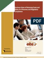 Ediscovery Business Value Analysis of Enterprise Vault
