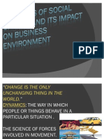Dynamics of Social Change
