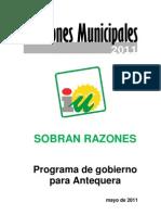 IU Antequera - Programa elecciones 2011
