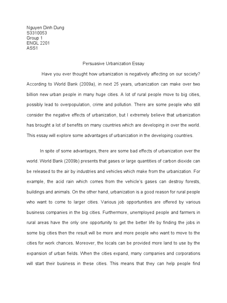 essay on urbanisation urbanization essay